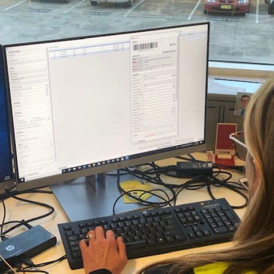 Screenshot of Logis Assets software on computer